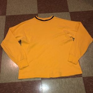 Vtg 90s UO Yellow LS tshirt md retro
